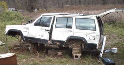 Salvaged Jeep