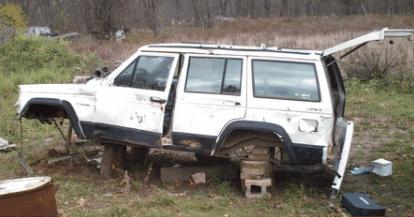 Salvaged Jeep