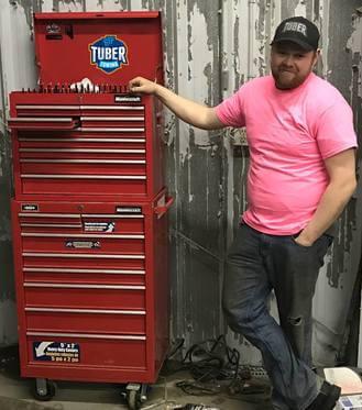 Matt with toolbox