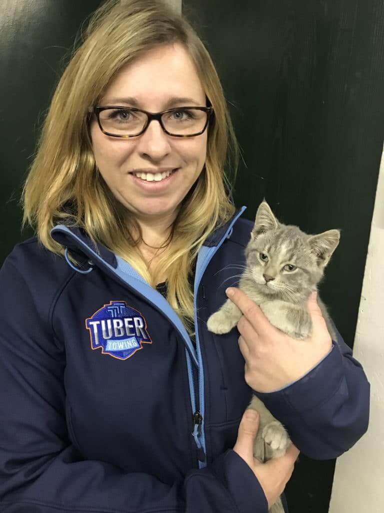 jessie with kitten
