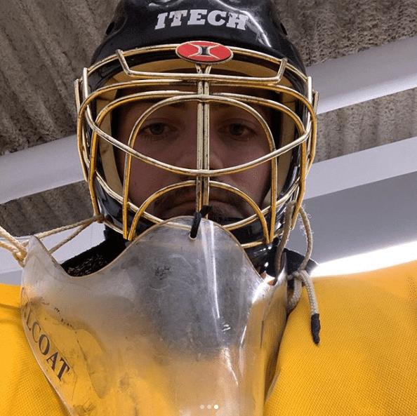 Taylor in Hockey Gear