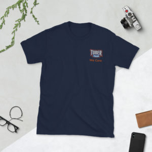 Short-Sleeve Unisex T-Shirt Embroidered
